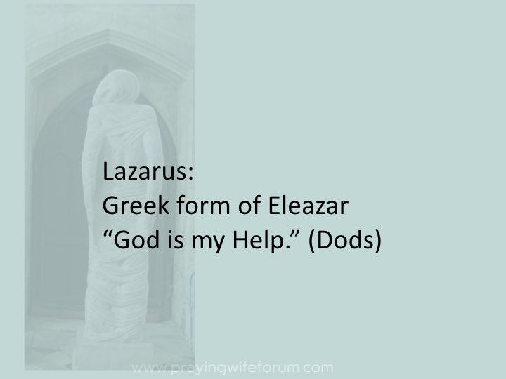 Lazarus, Come Out images bible study .004