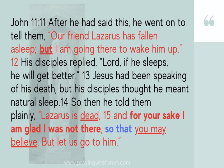 Lazarus, Come Out images bible study .007
