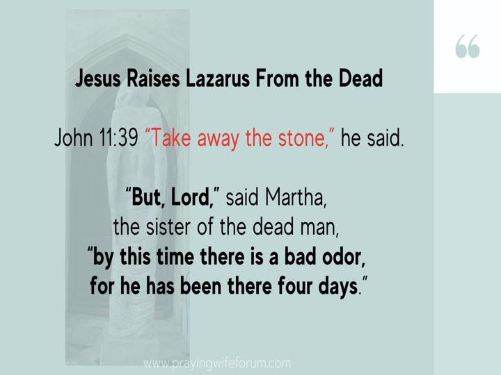 Lazarus, Come Out images bible study .016