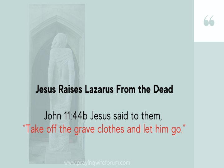 Lazarus, Come Out images bible study .021